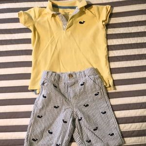 Little Me boys polo shirts & shorts outfit 4T